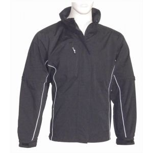 The Weather Company Womens Microfiber Full Zip Golf Jacket