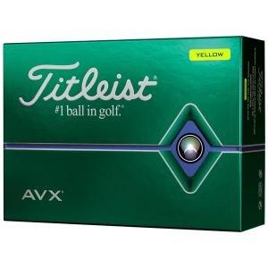 2020 Titleist AVX Yellow Golf Balls