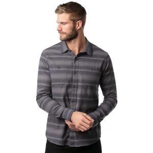 TravisMathew Final Approach Button-Up Long Sleeve Flannel Golf Shirt