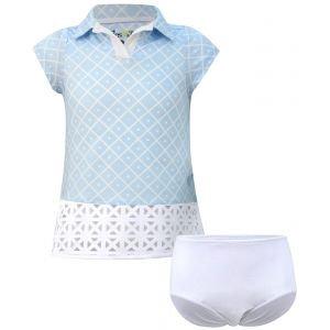 Turtles & Tees Infant/Toddler Girls Charlotte Short Sleeve Golf Dress