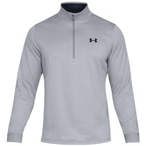 Under Armour Fleece 1/2 Zip Golf Pullover - 035 STEEL HTHR - XXL
