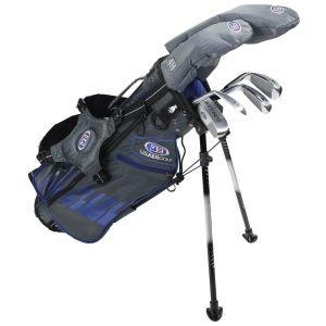 U.S. Kids Ultralight UL45 6 Club Junior Golf Set Grey/Blue Bag