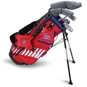 U.S. Kids UL48 5 Club Junior Golf Stand Red/White/Blue Bag