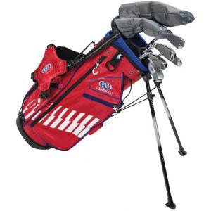 U.S. Kids UL48 7 Club Junior Golf Set Red/White/Blue Bag