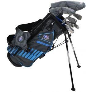 U.S. Kids Ultralight UL48 7 Club Junior Golf Set Grey/Teal Stand Bag