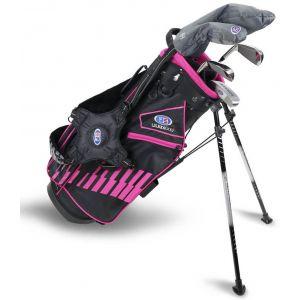 U.S. Kids UL51 5 Club Junior Golf Set Black/Pink Bag 2020