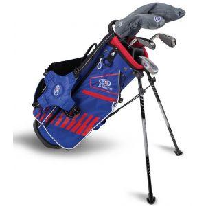 U.S. Kids UL51 5 Club Junior Golf Set Blue/Red/White Bag 2020