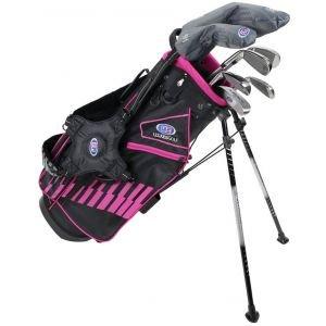 U.S. Kids Ultralight UL51 7 Club Junior Golf Set Black/Pink Bag