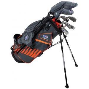 U.S. Kids UL51 7 Club Junior Golf Set Grey/Orange Bag