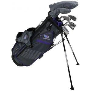 U.S. Kids Ultralight UL54 7 Club Junior Golf Set Grey/Purple Stand Bag