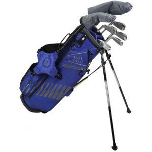 U.S. Kids Ultralight UL57 7 Club Junior Golf Set Blue/Grey Stand Bag