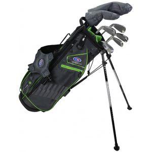 U.S. Kids Ultralight UL57 7 Club Junior Golf Set Grey/Green Stand Bag
