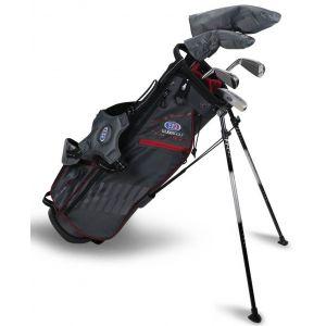 U.S. Kids UL60 5 Club Junior Golf Set Grey/Maroon Bag