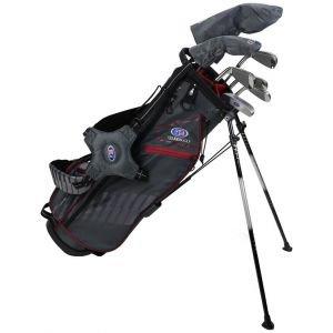 US Kids Ultralight UL60-s 7 Club DV3 Junior Golf Stand Set Grey/Maroon Bag
