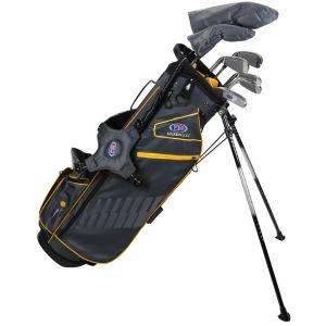 US Kids Ultralight UL63-s 7 Club DV3 Junior Golf Stand Set Grey/Gold Bag