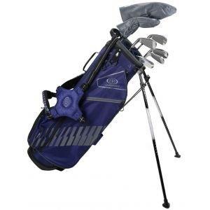 U.S. Kids Ultralight UL63-s 7 Club DV3 Junior Golf Stand Set Navy/Grey Bag