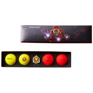 Volvik Vivid Marvel 2.0 Iron Man Golf Ball Gift Set