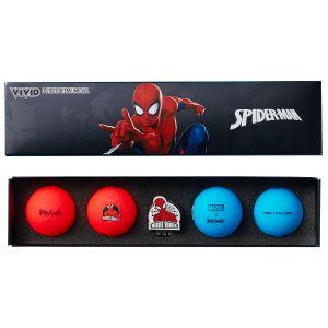 Volvik Vivid Marvel 2.0 Golf Ball Gift Set Spider Man