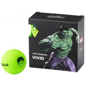 Volvik Vivid Marvel Square Pack Incredible Hulk Golf Balls