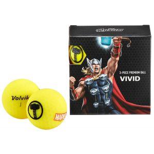Volvik Vivid Marvel Square Pack Thor Golf Balls
