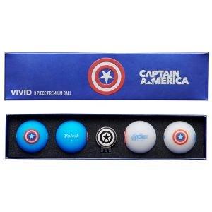 Volvik Vivid Marvel Golf Balls - Captain America