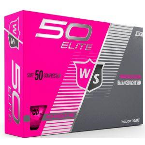 Wilson Womens Fifty Elite Pink Golf Balls