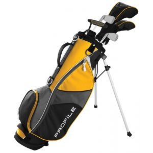 Wilson Junior Kids Medium Profile JGI Complete Carry Golf Club Set Yellow Age 8-11