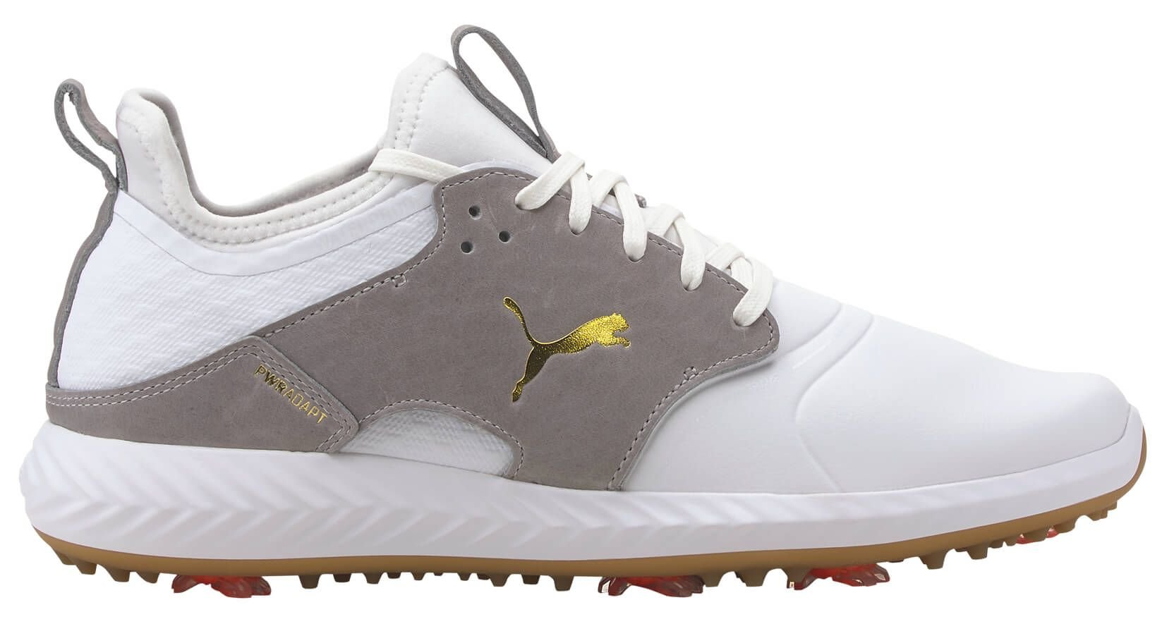 Puma IGNITE PWRADAPT Caged Crafted Golf Shoes 2021 White/High Rise ...