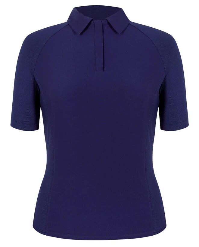 tail womens lilly golf top gc1838 5348 navy blue