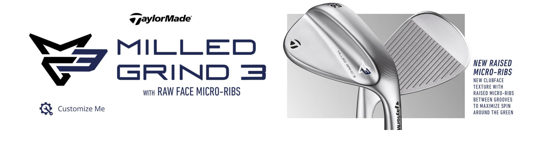 TaylorMade MG3 Wedges Milled Grind 3