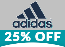 Adidas 25% Off Apparel