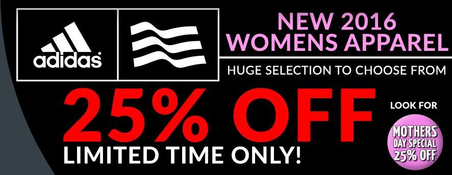 Adidas Womens 25% Off